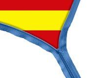 Spain flag under zipper Royalty Free Stock Image