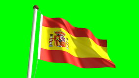 Spain flag stock video