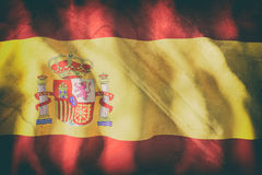 Spain flag waving Stock Images