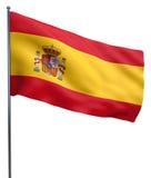 Spain Flag Waving Royalty Free Stock Image
