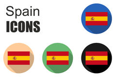 This is spain flat icons Royalty Free Stock Image