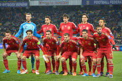Spain football team Stock Photo