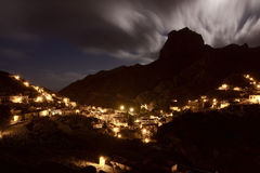 Spain: Full moon over the La Gomera island Stock Photos