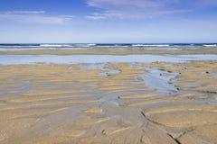 Spain, Galicia, Atlantic Ocean Beach, Low Tide Royalty Free Stock Photography