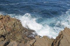 Spain, Galicia, La Coruna, Ocean Waves Breaking Stock Photography