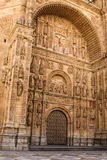 Spain. Gateway to the New Cathedral in Salamanca. Royalty Free Stock Image