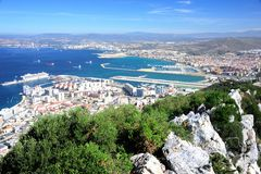 Spain and Gibraltar Royalty Free Stock Images