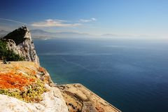 Spain and Gibraltar Stock Image