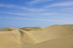 Spain. Gran Canaria island. Dunes of Maspalomas Stock Photography