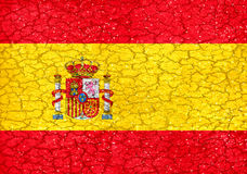 Spain Grunge Style National Flag Royalty Free Stock Image