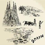 Spain - hand drawn collection Stock Photos