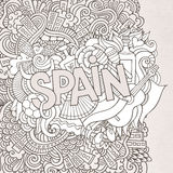 Spain hand lettering and doodles elements Royalty Free Stock Images