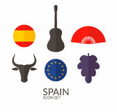 Spain. Icon set Royalty Free Stock Images