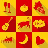 Spain icons Royalty Free Stock Images