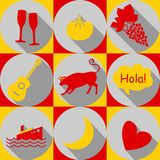 Spain-icons Royalty Free Stock Photo