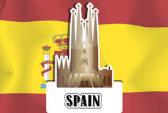 Spain, illustration Royalty Free Stock Image