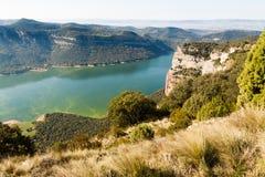 Spain. Lake Sau. Lake Sau. Spain. Panoramic Photography stock photo