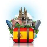Spain, landmarks Madrid and Barcelona, travel stock photo