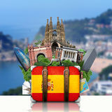 Spain, landmarks Madrid and Barcelona, travel Stock Photo