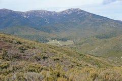 Spain landscape valley Albera mountain Catalonia Stock Image