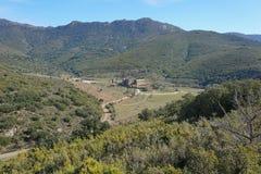 Spain landscape Sant Quirze de Colera Catalonia Stock Images