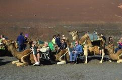 Spain, canary Islands, Lanzarote, Timanfaya NP stock image