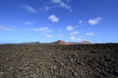Spain, Canary Islands, Lanzarote, arid landscape royalty free stock image