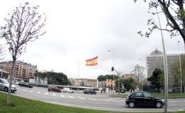 Spain Madrid Bandeira da Espanha no Madri Imagem de Stock Royalty Free