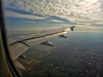 Take off view of Madrid royalty free stock photography