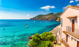 Spain Majorca Bay of Camp de Mar Mediterranean Sea Royalty Free Stock Image