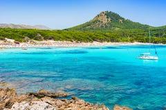 Spain Majorca beach of Cala Agulla Seaside Mediterranean Sea Royalty Free Stock Images