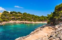 Spain Majorca beautiful beach bay Cala Barca Royalty Free Stock Images
