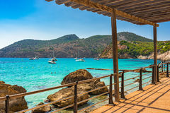 Spain Majorca Camp de Mar Bay Mediterranean Sea Stock Image