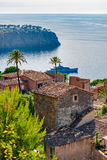 Spain Majorca Coast of Deia Llucalcari Stock Photography