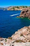 Spain Majorca, coast landscape view of Santa Ponsa. Stock Photos