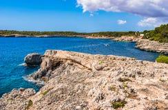 Spain Majorca island beautiful seaside of Santanyi Stock Image