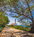 Spain Majorca Lighthouse of Porto Colom Royalty Free Stock Images