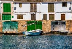 Spain Majorca old fishing village Porto Petro Stock Images