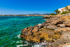 Spain Majorca Porto Colom Stock Photos