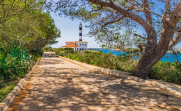 Spain Majorca Porto Colom Lighthouse Royalty Free Stock Photography