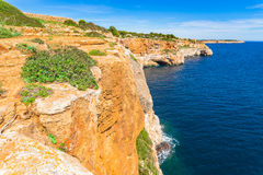 Spain Majorca Rocky Coast Landscape Royalty Free Stock Photo