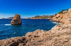 Spain Majorca rocky coast Stock Image