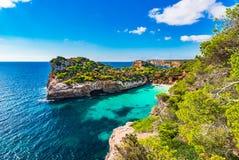 Spain Majorca stunning beach of Cala Moro bay Stock Photo