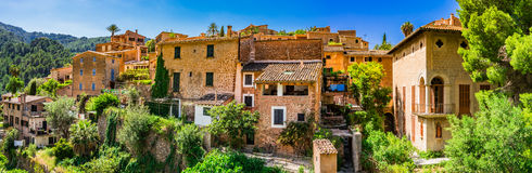 Spain Majorca Village Deia Stock Photography