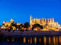 Spain, mallorca, palma, cathedral. Spain, mallorca, palma. the cathedral la seu as touristenatrraktion in the city center Royalty Free Stock Photography