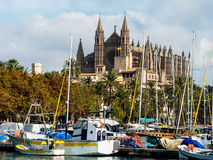 Spain, mallorca, palma, cathedral Royalty Free Stock Photos