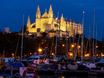 Spain, mallorca, palma, cathedral. Spain, mallorca, palma. the cathedral la seu as touristenatrraktion in the city center Stock Photography