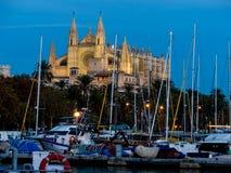 Spain, mallorca, palma cathedral. Spain, mallorca, palma. the cathedral la seu as touristenatrraktion in the city center Royalty Free Stock Photo
