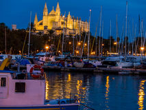 Spain, mallorca, palma cathedral Royalty Free Stock Images