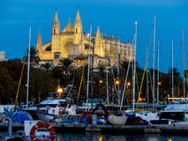 Spain, mallorca, palma cathedral Stock Photography